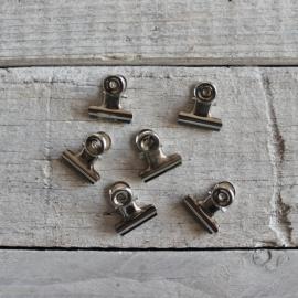 Papierklemmetjes Zilver 2 cm Set 6 | Uitverkocht