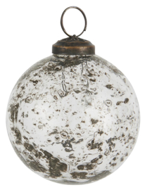 Kerstbal Glas Metal Chips | Clear | Medium | IB Laursen