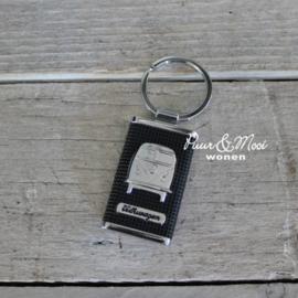 VW CAB | Sleutelhanger | Zwart