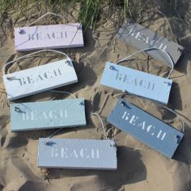 Tekstbordje BEACH