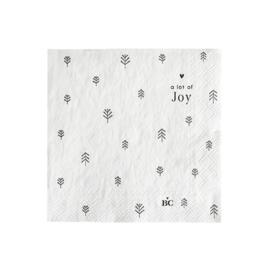 Servetten Tree Joy | Small | 20 stuks | Wit/Zwart | Bastion Collections
