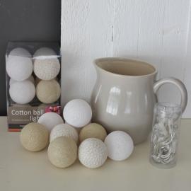 Cotton Ball Lights | Wit/Naturel 10 Lampjes | Uitverkocht