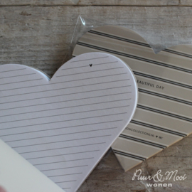 Notitieboekje Hart | Stripes | Ciao Bella | Bastion Collections