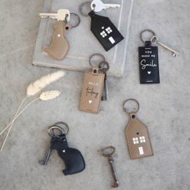 Sleutelhanger Huis | Zwart | Bastion Collections