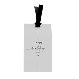 Gift Bag met Pepermunt Hartjes | Happy Birthday | Bastion Collections