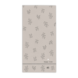 Servetten Flower | X Large | 16 stuks | Titane/Zwart | Bastion Collections