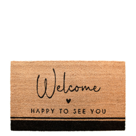 Deurmat | Happy to see You | Bastion Collections