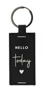 Sleutelhanger | Hello Today | Zwart | Bastion Collections