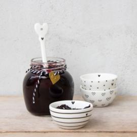 Bowl Mini Stripes/Dots/Hearts   Jam Schaaltje   Per Stuk   Bastion Collections