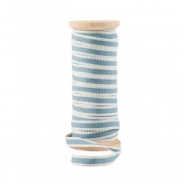 Lint met Stiksel Dusty Blue | Per Meter of Klos 25 mtr. | Ib Laursen