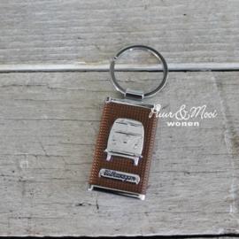 VW CAB | Sleutelhanger | Bruin