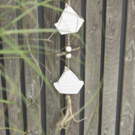 Hanger met 6 witte Bootjes | IB Laursen
