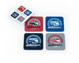 VW Onderzetters | Set 4 | VW Logo