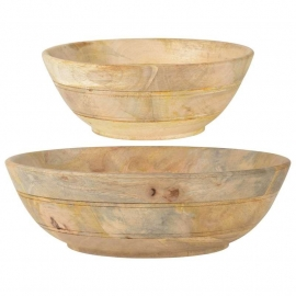 Kommen Set/2 Large Mangowood