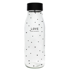 Fles met Schenkdop | Love | Zwart | 1 Liter | Bastion Collections