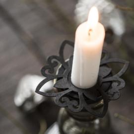 Candle Ring Metaal | Zwart | IB Laursen