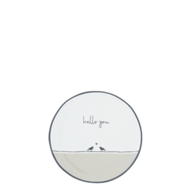 Tea Tip | Birds Hello You | Wit/Titane/Zwart | Bastion Collections