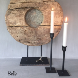 Tafelkandelaar | Belle 20/30 cm | Zwart | Puur wonen