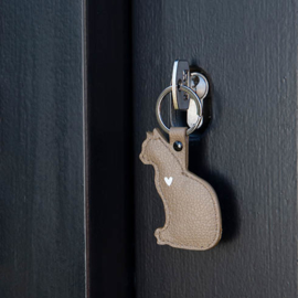 Sleutelhanger CAT | Taupe | Bastion Collections