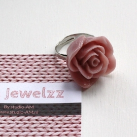 AM Jewelzz Ring Roos Old Pink