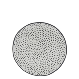 Gebakschotel | Little Dots | Ø:16 cm | Wit/Zwart | Bastion Collections
