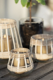 Windlichtje Conical Bamboe | Small | IB Laursen
