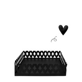 Servethouder Hearts Zwart | Large | Bastion Collections