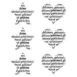 """Glasstraal Stickers Harten & Sterren """"Gefeliciteerd"""" Set 6"""