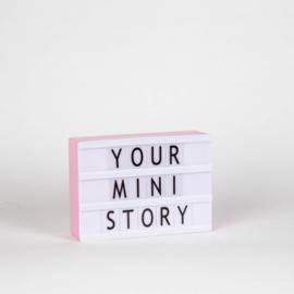 Lichtbox | Mini A6 | USB | Roze