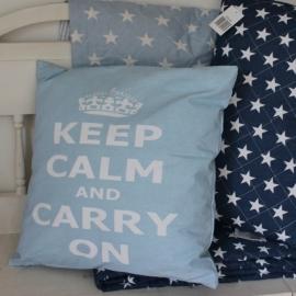 Kussen Hoes Keep Calm Blue Krasilnikoff