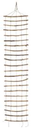 Trellis of twigs and strings | 220 x 50 cm | IB Laursen