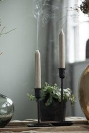 Kandelaar Zwart | Medium 24,5 cm | voor Dinerkaars Ø:2,2 | Handmade | IB Laursen