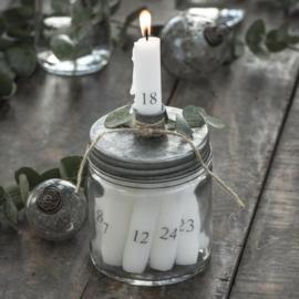 Kandelaar Glas met Zinken Deksel | IB Laursen
