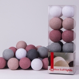 Cotton Ball Lights | Dirty Rose | 20
