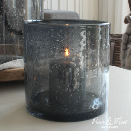Windlicht Bubbels Smokey Grey | Medium | 14 x 14 | Puur Wonen