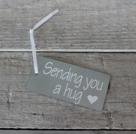 "Zinken Label ""Sending you a hug ♥"""
