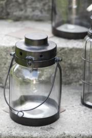 LED Lantaarn met Metalen Bodem | Medium | Ib Laursen