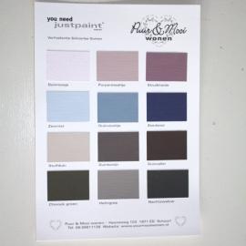 Handgeschilderde kleurenkaart