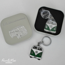VW T1 Bus | Sleutelhanger Metaal | Groen