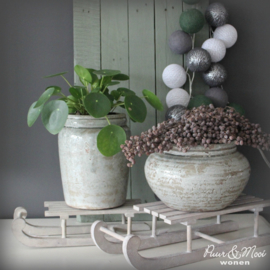 Bloempot Laag | Dusty Green | Ib Laursen | Uitverkocht