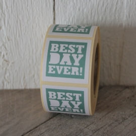 """Best day ever"" Stickers Mint Set 10"
