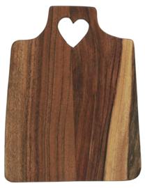 Snijplank Acacia Hout met Hartje | 20 cm | IB Laursen