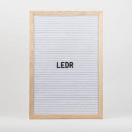 Letterboard L | 30 x 45 | Wit - Hout