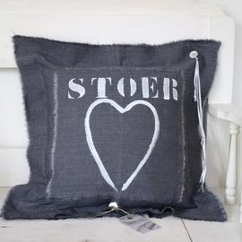 "Stapelgoed XS Kussen | Inkt ""STOER"" | 50 x 50"