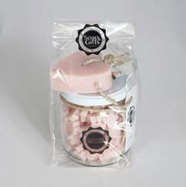 Soap & Giftset | Croatian Blossom | Pot Minizeepjes & Zeephanger Hart