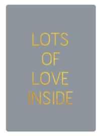 "Stickers | Set 10 | ""Lots of Love Inside"" | Mat Grijs"