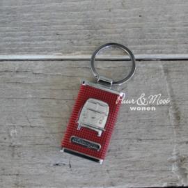 VW CAB | Sleutelhanger | Rood