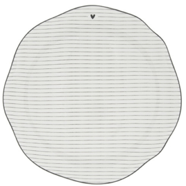 Dinner Plate Stripes | Wit /Zwart | 27 cm | Bastion Collections