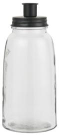 Kandelaar Fles X Large 25,5 cm | Zwart | voor Kaars Ø:2,2 cm | IB Laursen