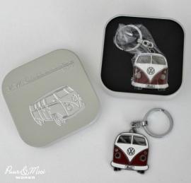 VW T1 Bus | Sleutelhanger Metaal | Rood